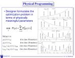 physical programming