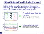 robust design and scalable product platforms