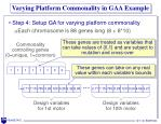 varying platform commonality in gaa example