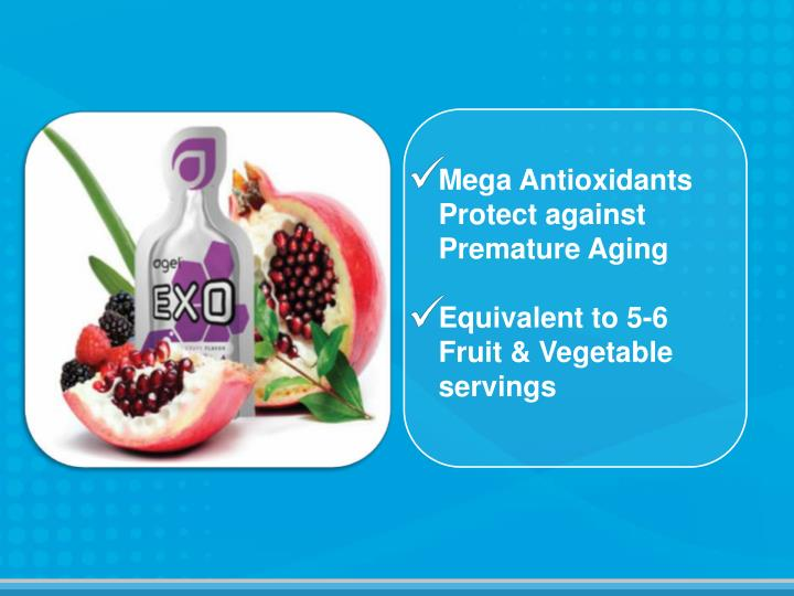 Mega Antioxidants Protect against Premature Aging