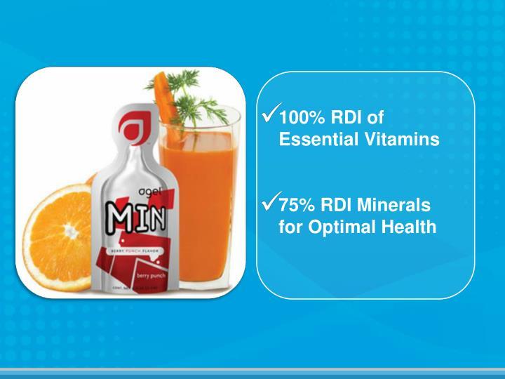 100% RDI of Essential Vitamins