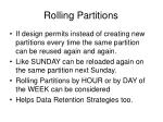 rolling partitions