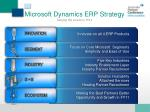 microsoft dynamics erp strategy staying the course in fy11
