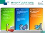the erp market today new trends new behaviors new opportunities