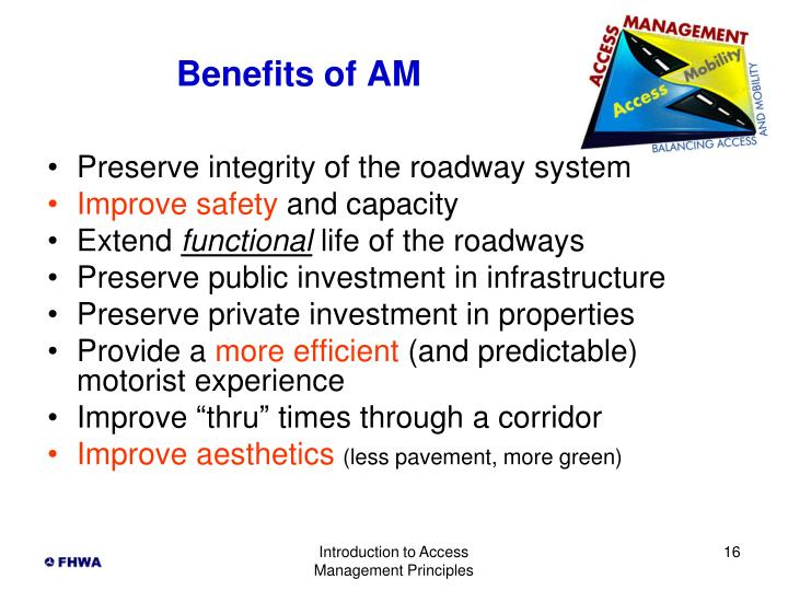 Benefits of AM