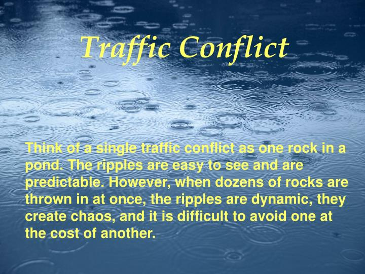 Conflicts, cont'd