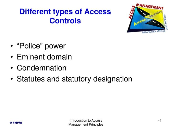 Different types of Access Controls
