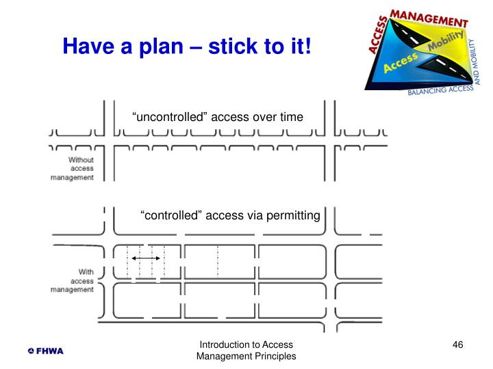 Have a plan – stick to it!