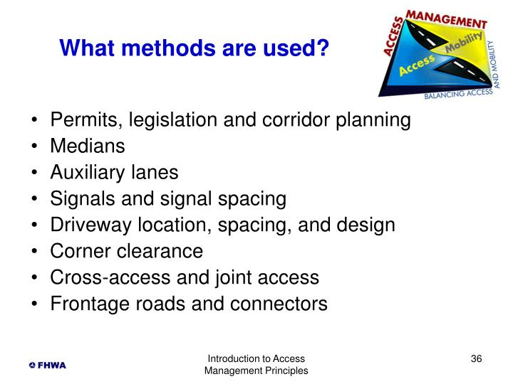 What methods are used?