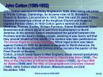 john cotton 1595 1652