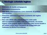 l ideologia coloniale inglese