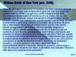 william smith di new york sec xviii