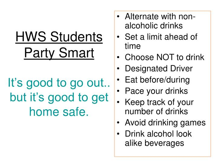 HWS Students Party Smart