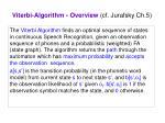 viterbi algorithm overview cf jurafsky ch 5