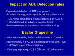 impact on ade detection rates