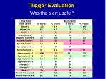 trigger evaluation