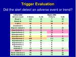 trigger evaluation1