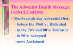 the adventist health message conclusions1