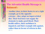 the adventist health message is balanced2