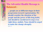 the adventist health message is balanced3