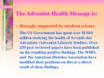 the adventist health message is2