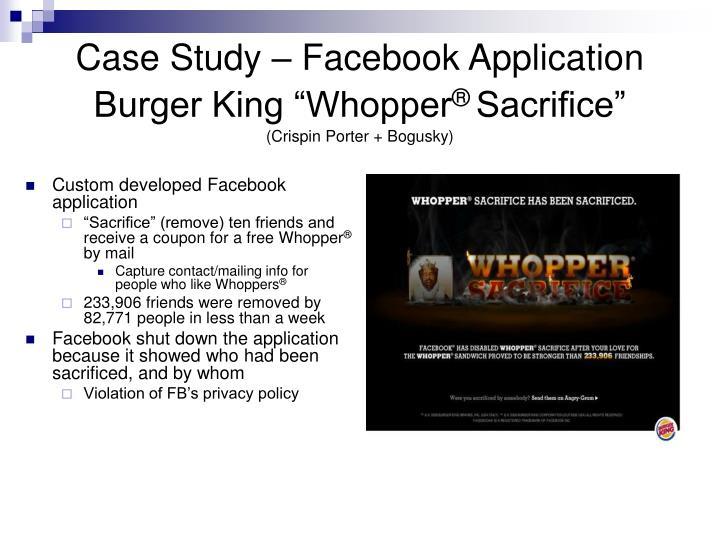 Case Study – Facebook Application