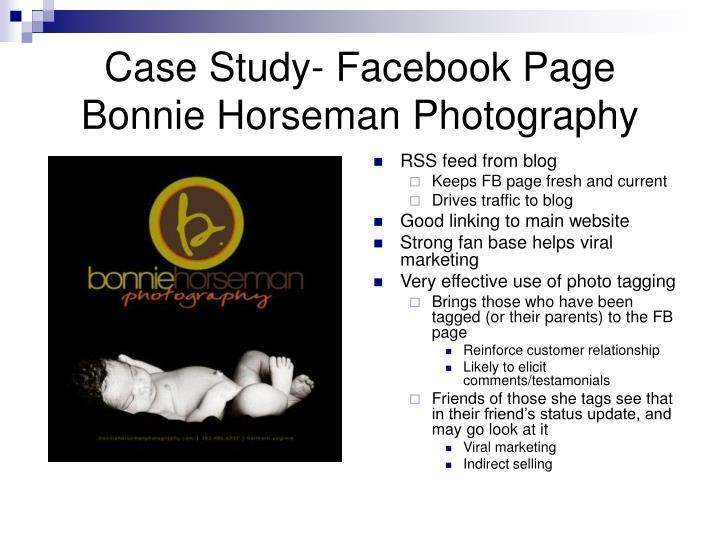 Case Study- Facebook Page