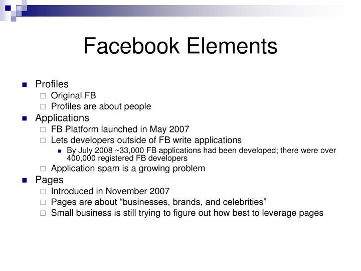 Facebook elements