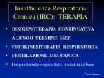 insufficienza respiratoria cronica irc terapia