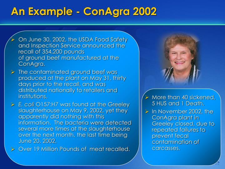 An Example - ConAgra 2002