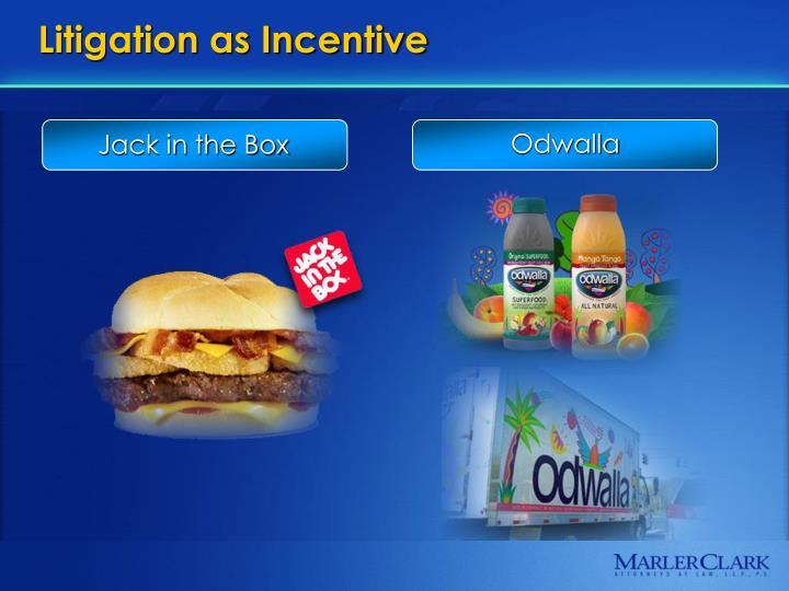 Litigation as incentive