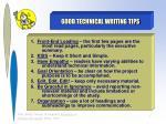 good technical writing tips