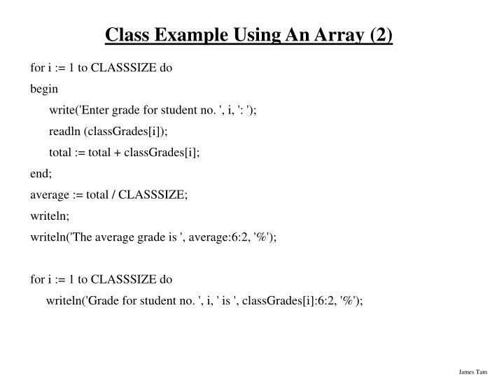 Class Example Using An Array (2)