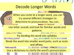 decode longer words