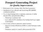 freeport generating project air quality improvements