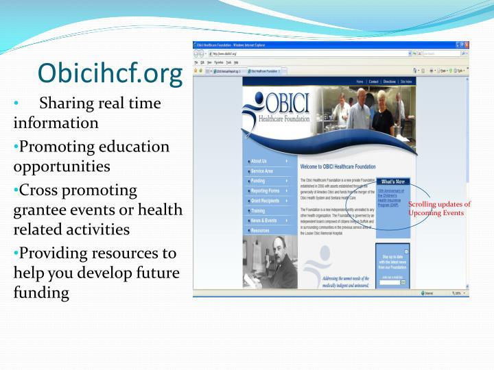 Obicihcf org