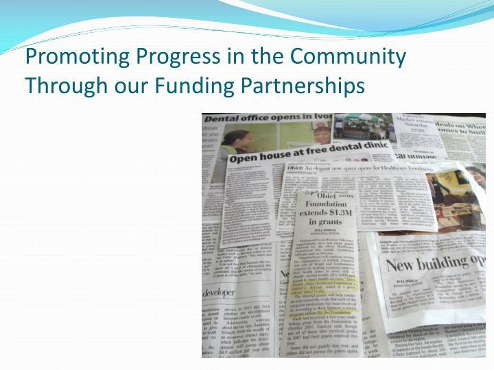 Promoting Progress in the Community