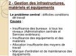 2 gestion des infrastructures mat riels et quipements