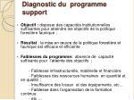 diagnostic du programme support