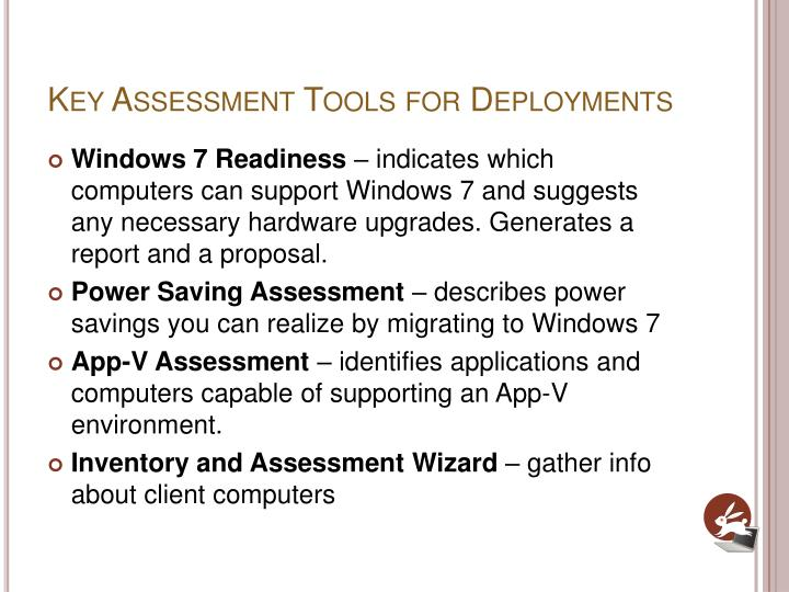 Key Assessment Tools for Deployments