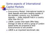 some aspects of international capital markets