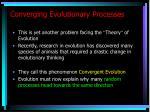 converging evolutionary processes