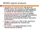 semg signal analysis