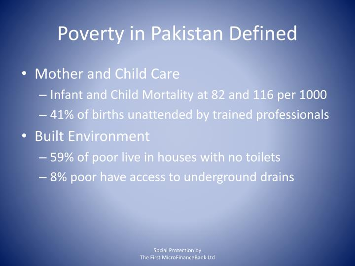 Poverty in Pakistan Defined