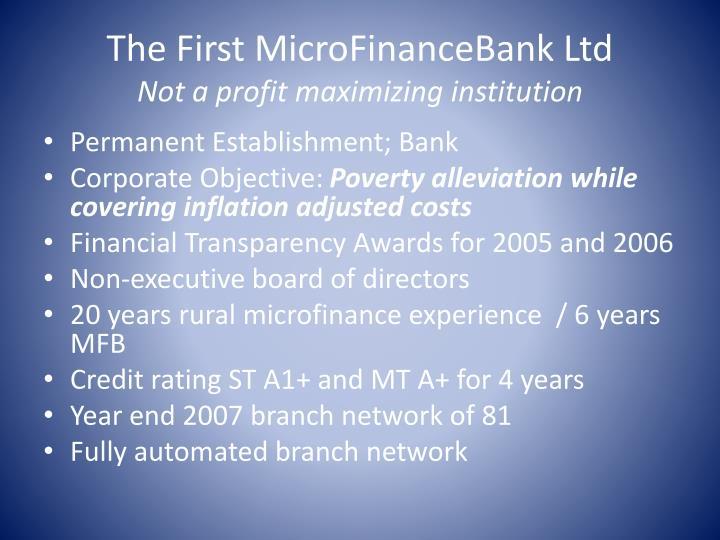 The First MicroFinanceBank Ltd