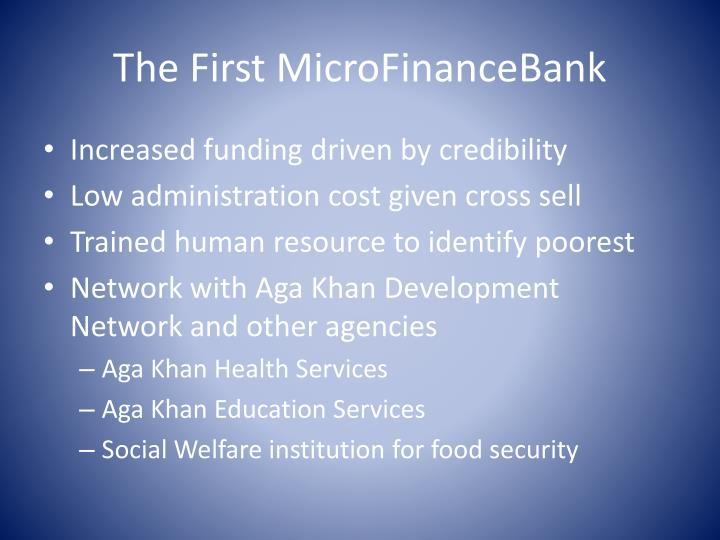 The First MicroFinanceBank
