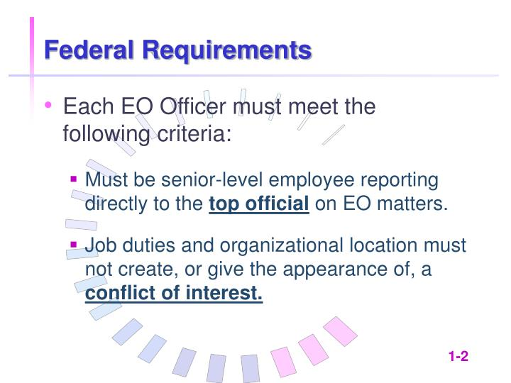 Federal requirements1