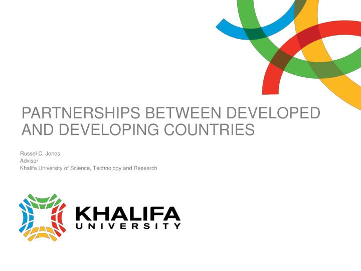 partnerships between developed and developing countries n.