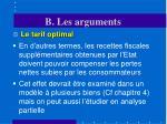 b les arguments1