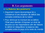 b les arguments10
